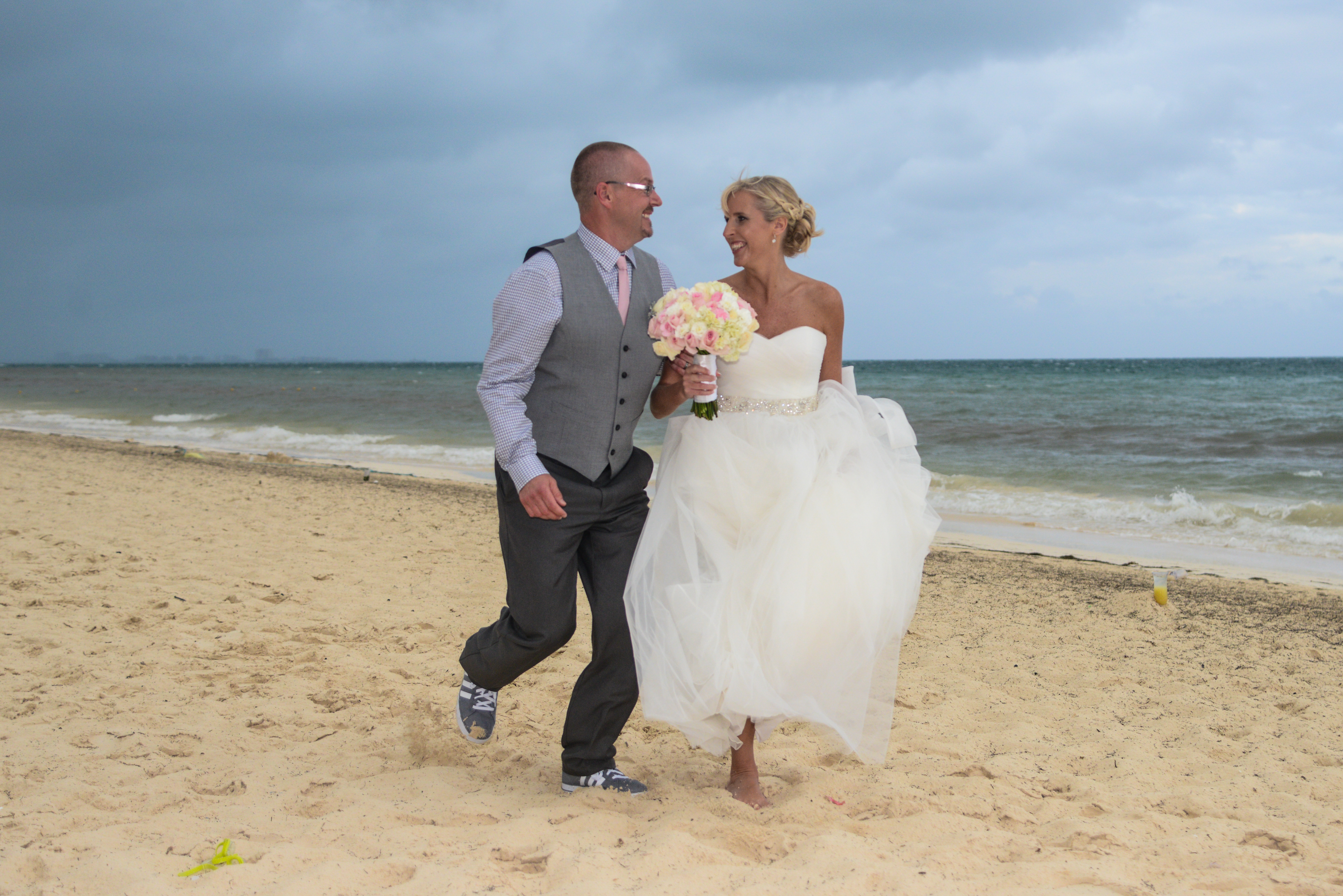 Fine Bride Groom Running On Beach Weddings By Funjet Download Free Architecture Designs Scobabritishbridgeorg