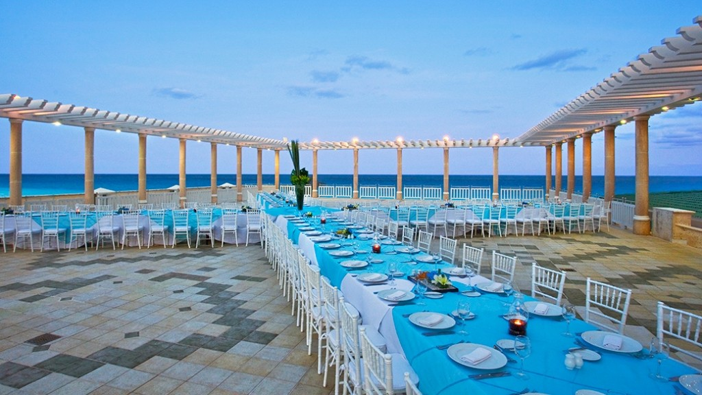 Rooftop Terrace at Sandos Cancun.