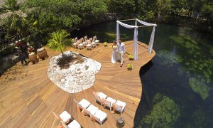 Cenote wedding venue at Sandos Caracol.