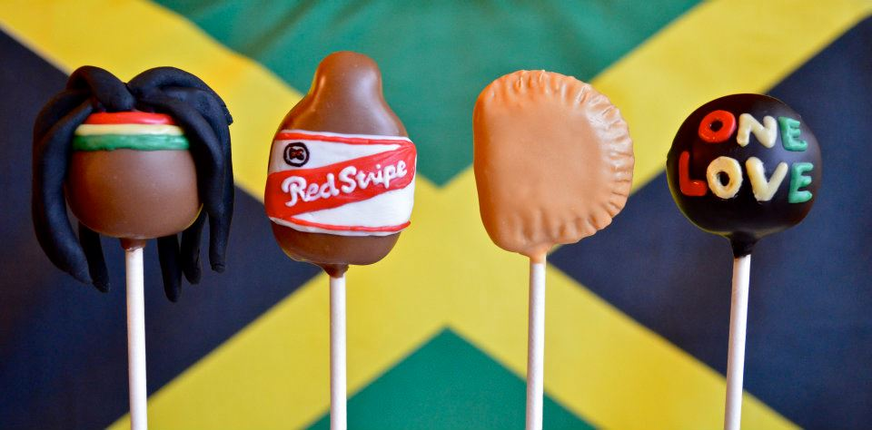 Jamaican Themed Cake Pops.