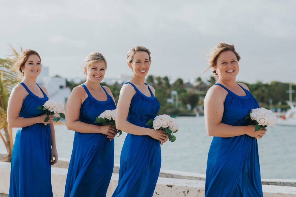 Dominican Republic Destination Wedding Bridal Party