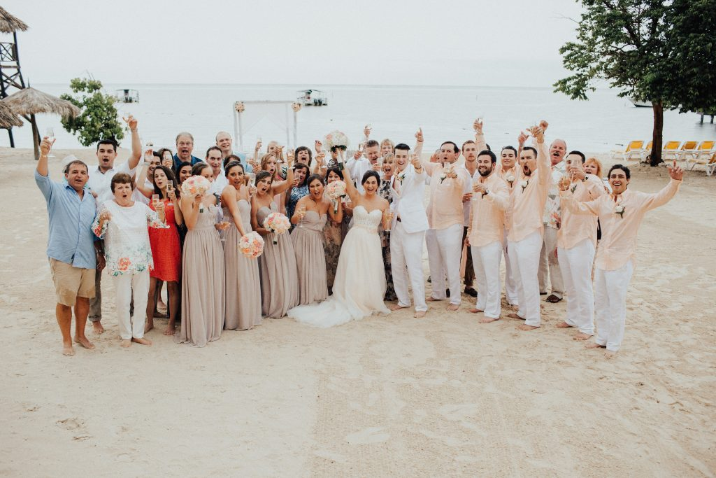 Jamaica Destination Wedding Party