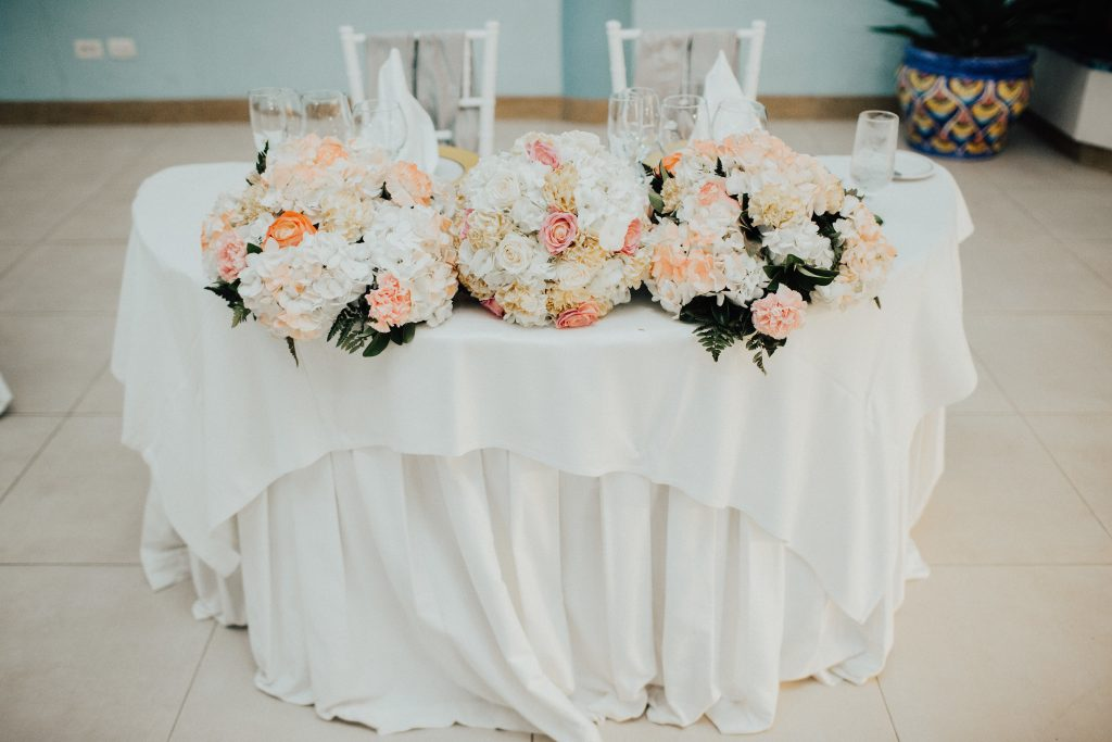 Jamaica Destination Wedding Sweetheart Table