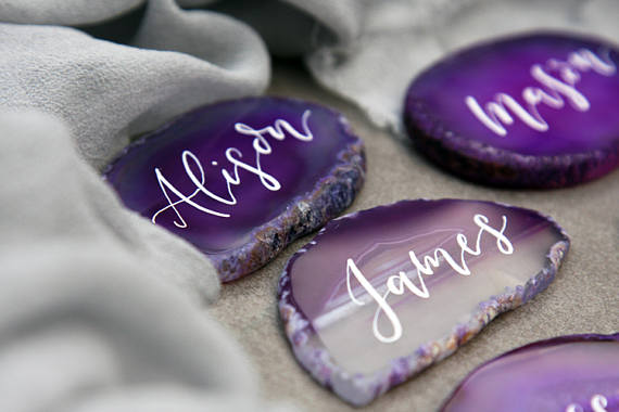 Jewel tones and natural stone textures are all the rage for the upcoming #wedding season.