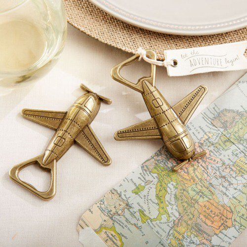 Airplane bottle openers by Beaucoup make for a useful gift guests will use long after the big day! #WeddingFavors