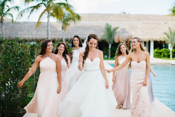 Mix and match bridesmaid dress inspo. #WeddingPlanning