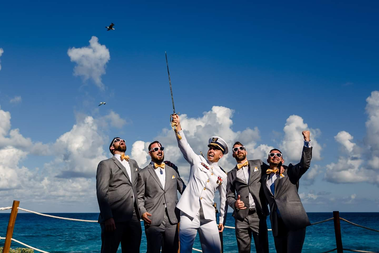 destination wedding party photos